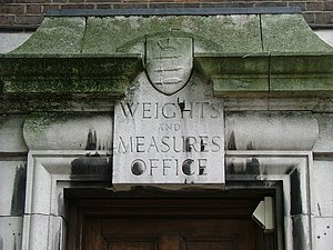 Imperial units - The former Weights and Measures office in Seven Sisters, London (590 Seven Sisters Road).