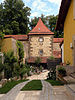 Weissenburg.Small court at city wall.jpg