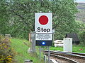 West Highland Line single line permssion sign - Rannoch south 01.jpg