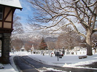 West Point Cemetery - Old section in January 2009