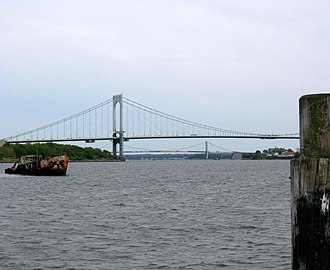 Bayside, Queens - Throgs Neck Bridge between the Bronx and Queens