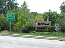 Signs at the north edge of Westville