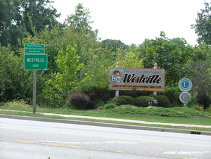 Westville, Illinois - Signs at the north edge of Westville