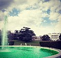 White House fountain dyed in green, 2018.jpg