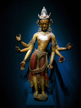 Tribhanga - White avalokiteshvara from Nepal, 14th century in Tribhanga
