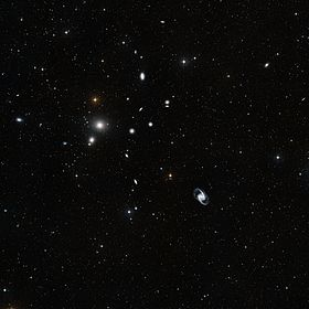 L'amas de Fourneau, visible par un télescope type Wide-field