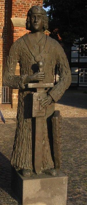 Widukind - Modern statue in Nienburg