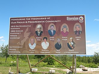 Wiikwemkoong First Nation - Welcome sign
