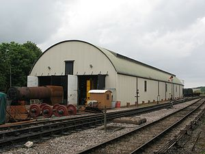 Williton railway station - The workshop moved from Swindon