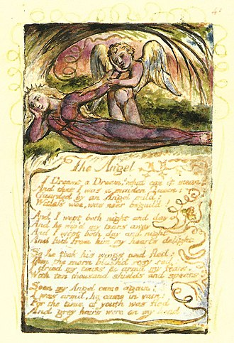 The Angel (Songs of Experience) - Image: William Blake The Angel Copy W 1825 Kings College Cambridge