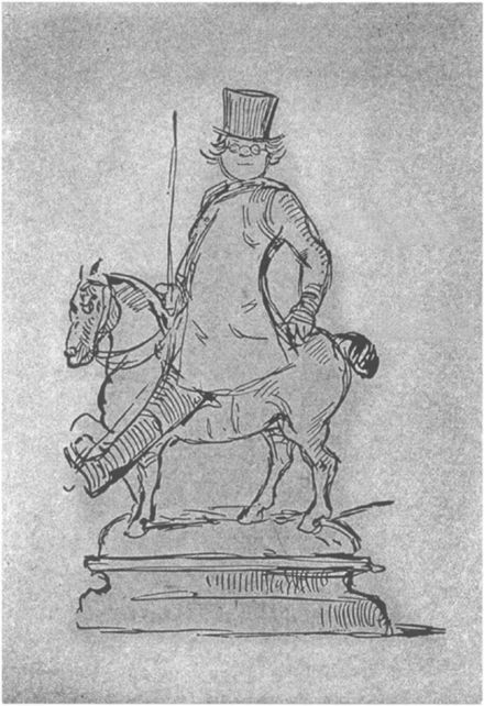 Caricature of Thackeray by Thackeray William Makepeace Thackeray - self caricature - Project Gutenberg eText 19222.jpg