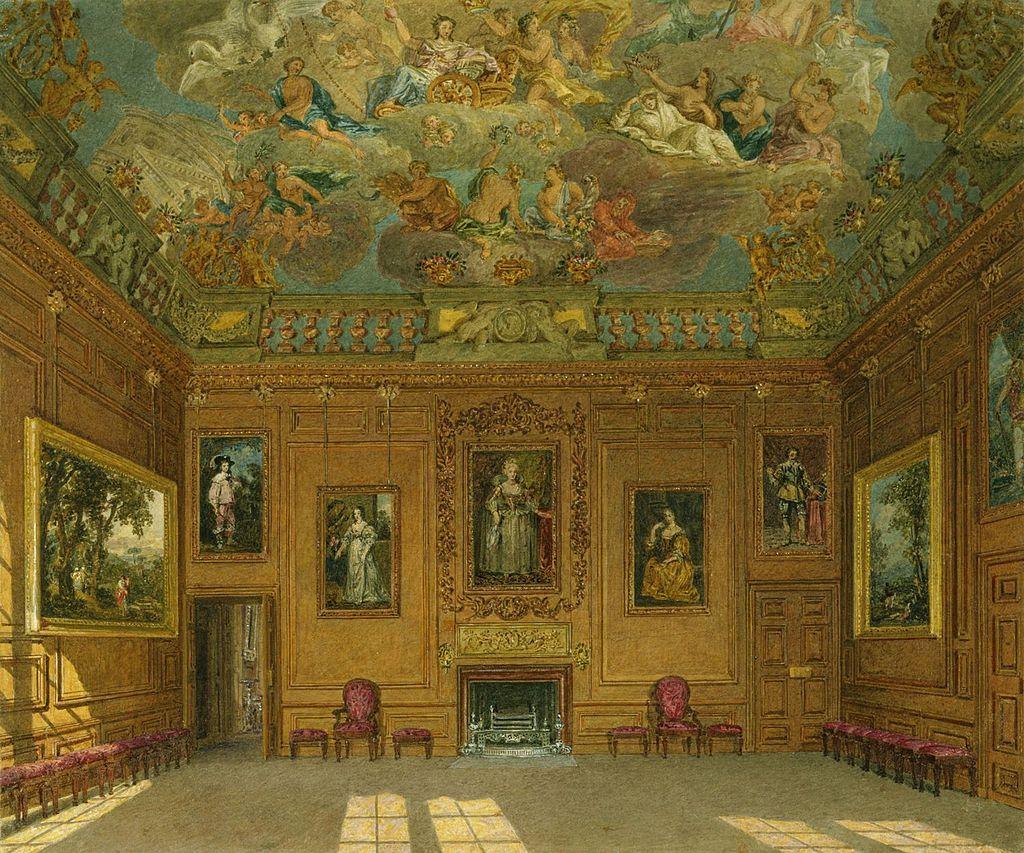 Виндзорский замок, Королевская аудиенция, по Charles Wild, 1818 - royal coll 922100 257021 ORI 0.jpg