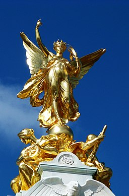 gilded statue of winged victory
