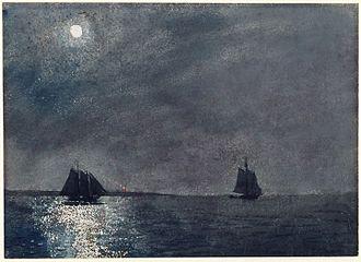 Eastern Point Light - Winslow Homer, Eastern Point Light, 1880, Princeton University Art Museum