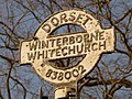 Winterborne Whitechurch, signpost close-up - geograph.org.uk - 1752513.jpg