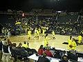 Wisconsin vs. Michigan women's basketball 2013 01 (Michigan warming up).jpg
