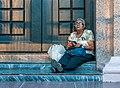 Woman in Chinita Basilica Door.jpg