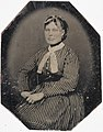 Woman in striped dress, ca. 1856-1900. (4731906297).jpg