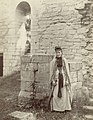 Woman in unidentified church ruin, Visby, Gotland, Sweden (3974714462) (2).jpg