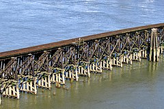Trestles are useful as approaches to bridges over marshes and shallows