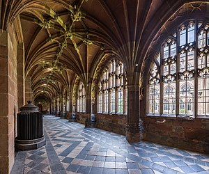 Worcester Cathedral - The medieval cloisters