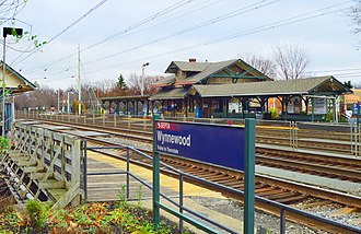 Wynnewood, Pennsylvania - SEPTA commuter rail station at Wynnewood