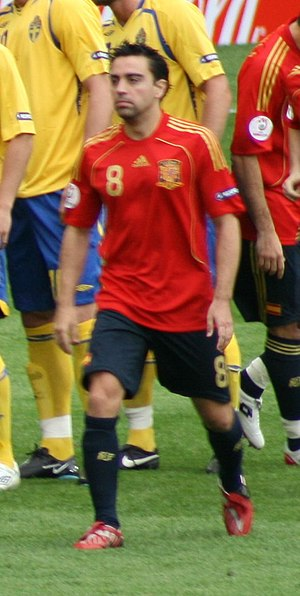 UEFA Euro 2008 - Spain midfielder Xavi was selected as the Player of the Tournament.
