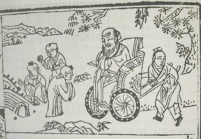 «Конфуций и дети»— иллюстрация из книги для детского чтения (1680 г)