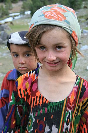 Yaghnobi people - Yaghnobi children
