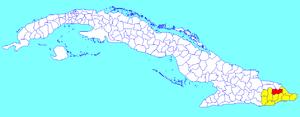 Yateras - Image: Yateras (Cuban municipal map)