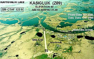 Kasigluk, Alaska - Aerial photograph of Kasigluk