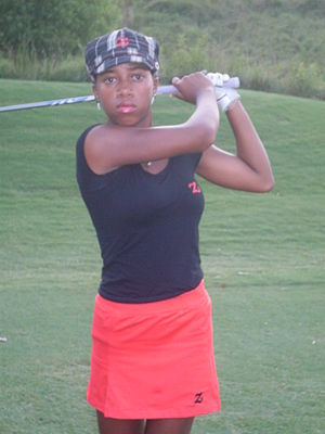 English: Zakiya Randall Golf Sensation on the Tee.