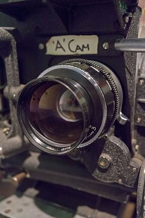 Carl Zeiss Planar 50mm f/0.7 - Lens attached to camera as used for Kubrick's Barry Lyndon