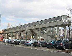 Berlin Storkower Straße station - The southern entrance to the station on Hermann-Blankenstein-Straße