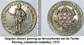 Zilveren penning, 1572, op de verlossing van de 10e penning.jpg