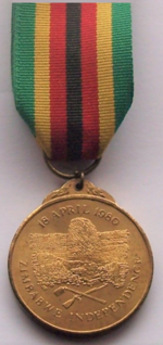 Zimbabwean Independence Medal, 1980 award to those who were involved in the Zimbabwean independence commemorations in some way