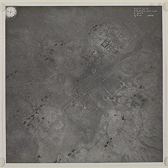 Zubarah - Aerial photograph of Zubarah in 1937.