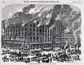 """""""Missouri.-Destruction of the Southern Hotel, at the Corner of Fifth and Elm Streets, St. Louis, by Fire, on the morning of April 11th."""" - """"Destruction of the Southern Hotel. The Conflagration at the Time of the Arrival of the Fire.jpg"""