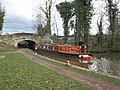 """Red Admiral"" enters Lock 22, Great Haywood,Staffs - geograph.org.uk - 1194394.jpg"