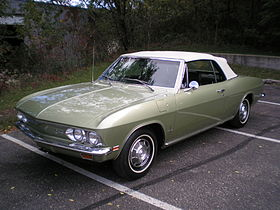 Corvette Stingray Production Years on Chevrolet Corvair   Wikipedia  The Free Encyclopedia