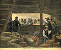 'An Indian Agency; Distributing Rations' by Jules Tavernier, wood engraving.jpg