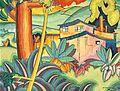 'Old Kahala Home', oil on board by Arman Manookian, 1928.jpg