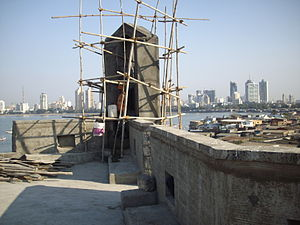 'Worli Portuguese Fort' receiving a face-lift.JPG