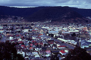 Lithgow, New South Wales - Image: (1)Lithgow dusk 1989