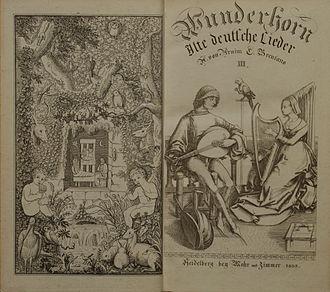 Des Knaben Wunderhorn - Frontispiece and title-page, Volume 3, published in 1808