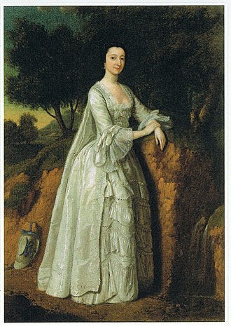 Sandleford - Presumed to be Elizabeth Montagu (1718 – 1800) in a Sandlefordesque landscape, by Edward Haytley (died 1761).