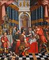 Čarovnik iz Ascalone gosti Carla in Ubalda v svoji podzemni palači (kon. 17. ali zač. 18. st.).jpg