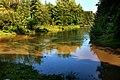 Łyna w Bartoszycach po obfitych deszczach (ujście Suszycy do Łyny). Piękna i groźna rzeka.jpg