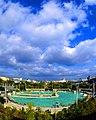 """Бассейн """"Москва"""" в 1980 году, сегодня на его месте возвышается величественный Храм Христа Спасителя, м.Кропоткин - panoramio.jpg"""