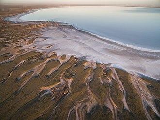 Salt lake - Lake Elton, Russia